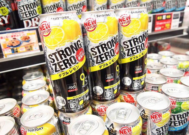 日本超市酒類人氣第2名-使用強碳酸讓人感到酒精濃度更高「三得利-196℃ STRONG ZERO 檸檬口味」