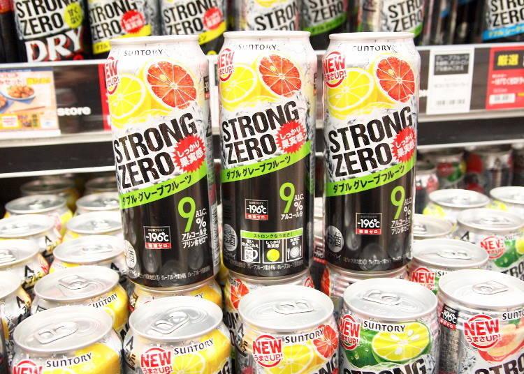 日本超市酒類人氣第6名-同時使用兩種葡萄柚!「三得利-196℃ STRONG ZERO 雙倍葡萄柚口味」