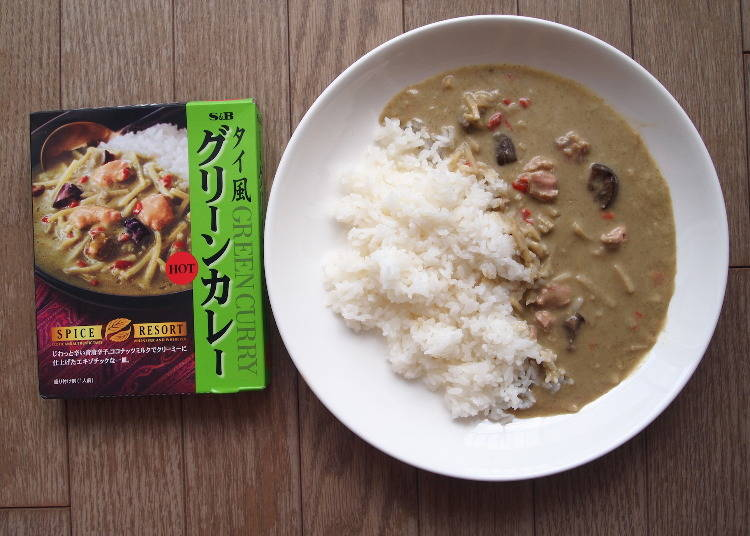 3. Mild Coconut and Pungent Spices: Thai-style Green Curry