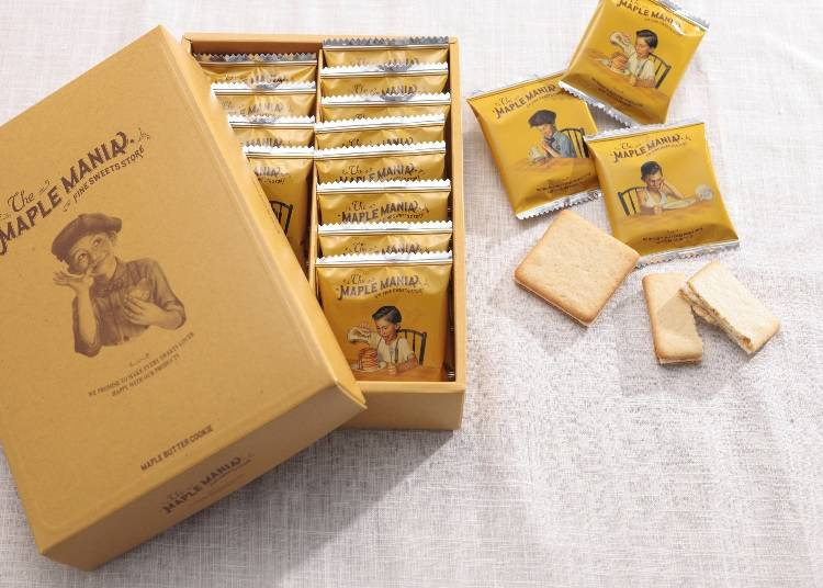 #1 Maple Butter Cookie, 9 in a Box (The Maple Mania/Gransta) for 920 Yen (Tax Included)