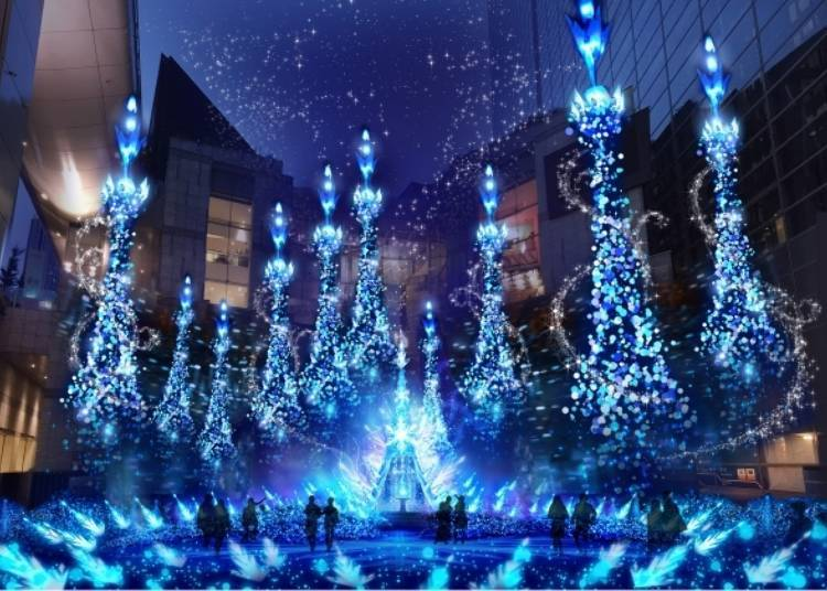 """Caretta Shiodome Winter Illumination 2019: Enjoy the season with Disney characters from """"Frozen"""" and """"Rapunzel""""!"""