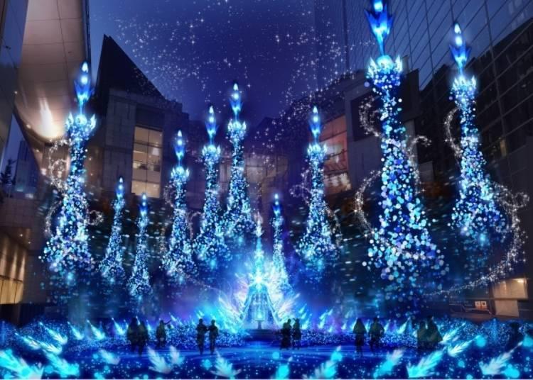 "2. Caretta Shiodome Winter Illumination 2019: Enjoy the season with Disney characters from ""Aladdin"""