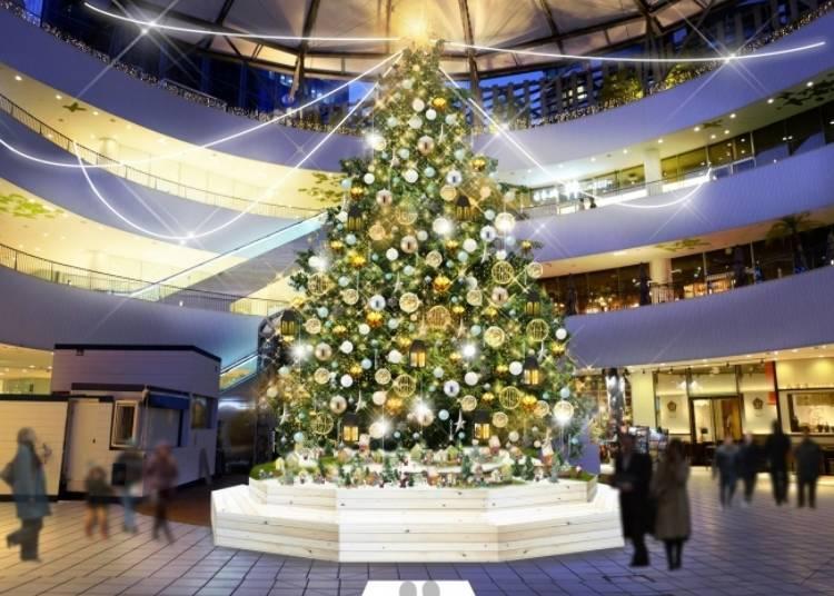 Yokohama Bay Quarter 2019: Enjoying a Nordic Christmas Village with a night view of Yokohama Bay!