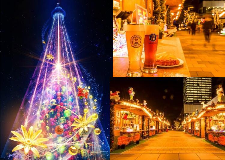 【東京晴空塔夢想聖誕2019】花與光交織白晝、黑夜的繽紛聖誕