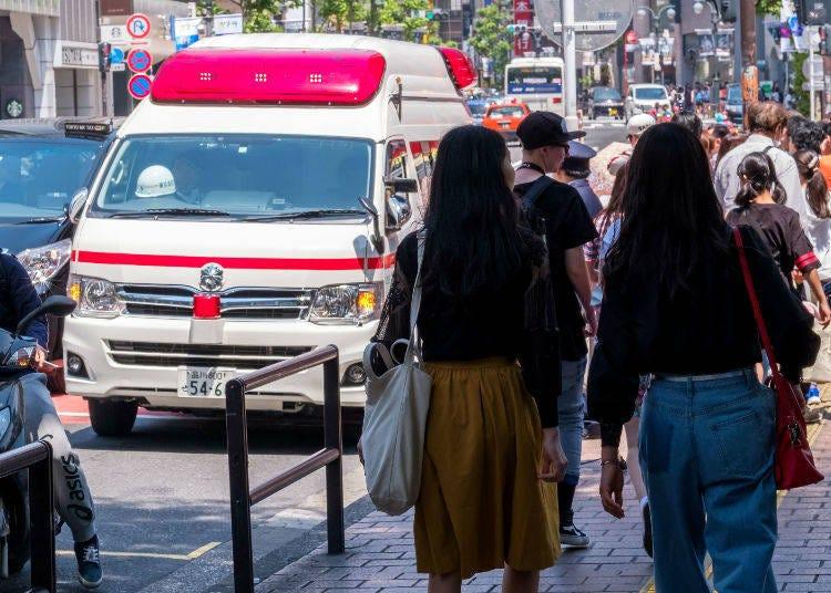4) 遭遇意外,或是突然的身體不適,請撥「119」叫救護車吧!