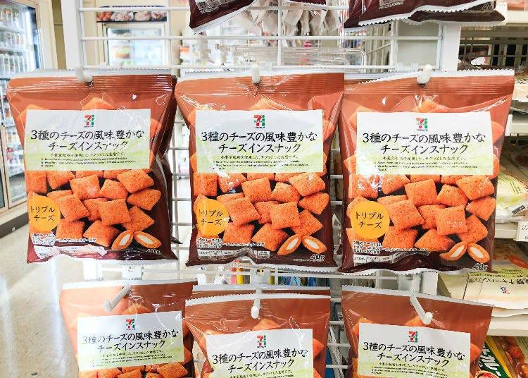 랭킹 1위 - 3종류의 치즈의 향이 느껴지는 진한 안주거리 스낵 / 치즈가 들어간 스낵 트리플 치즈 맛 108엔