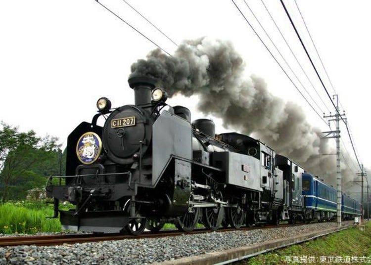 1000엔으로 즐길 수 있는 관광열차 SL 타이쥬(증기기관차)