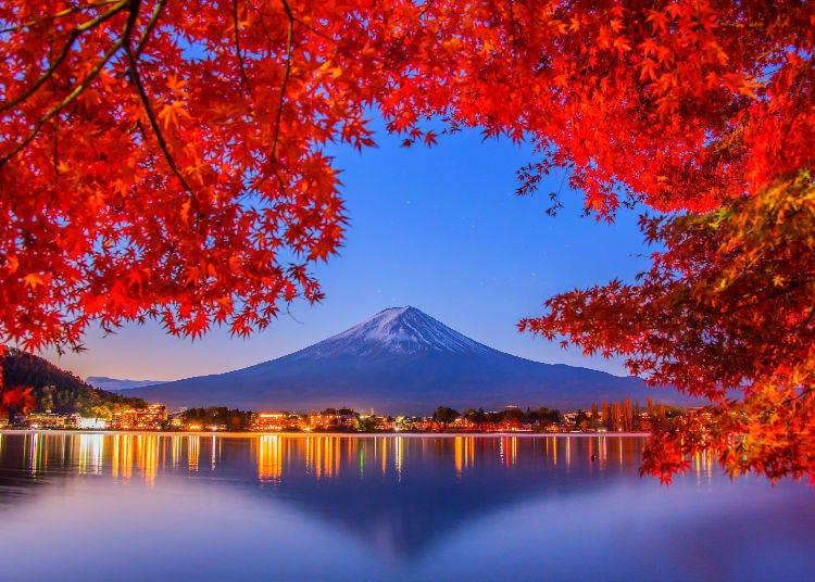 1. Lake Kawaguchi (Fuji Five Lakes) in Yamanashi Prefecture