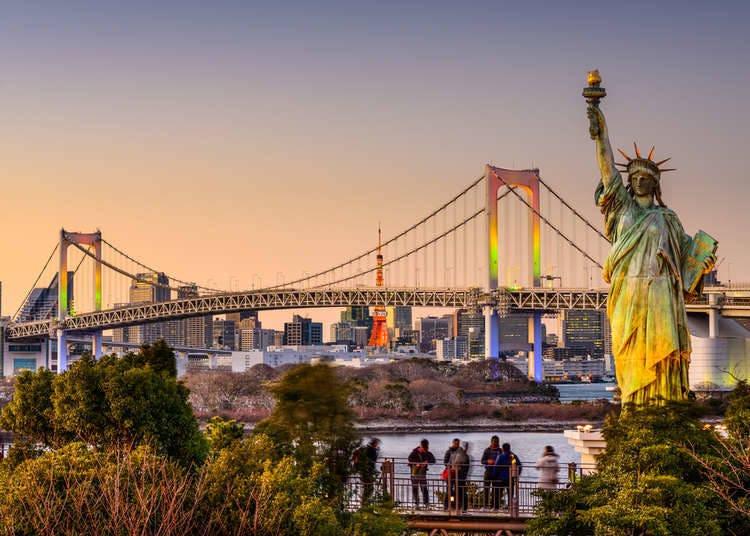 "Odaiba: ""Ferris Wheel, Breathtaking View, and Rainbow Bridge Define Tokyo's Prime Date Spot"""