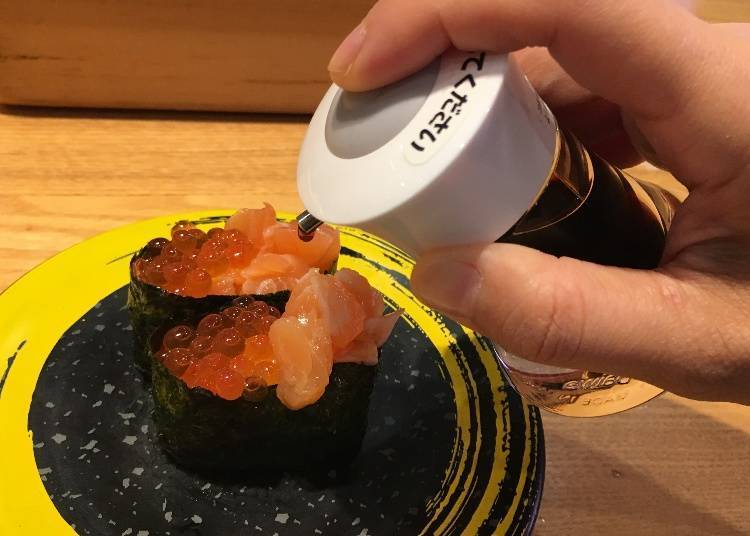 3. How to Eat Sushi: Dipping Battleship Sushi