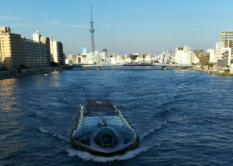 5. Asakusa → Odaiba: River Cruise - 1:25 PM (Trip Takes Approximately 70 Minutes)