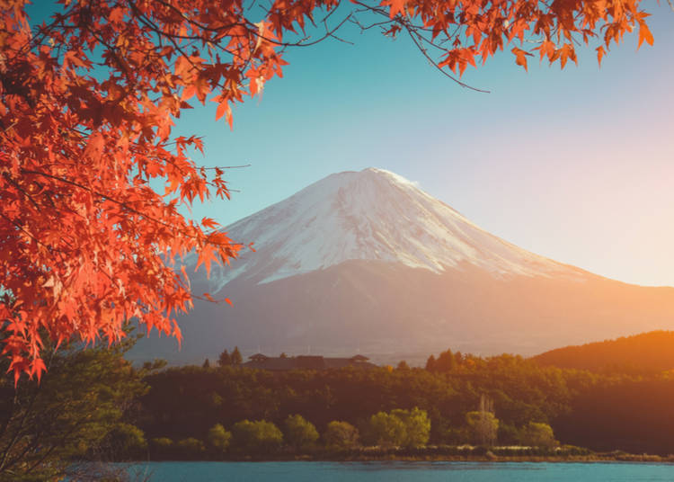 5. It's the perfect season to enjoy views of Mt. Fuji