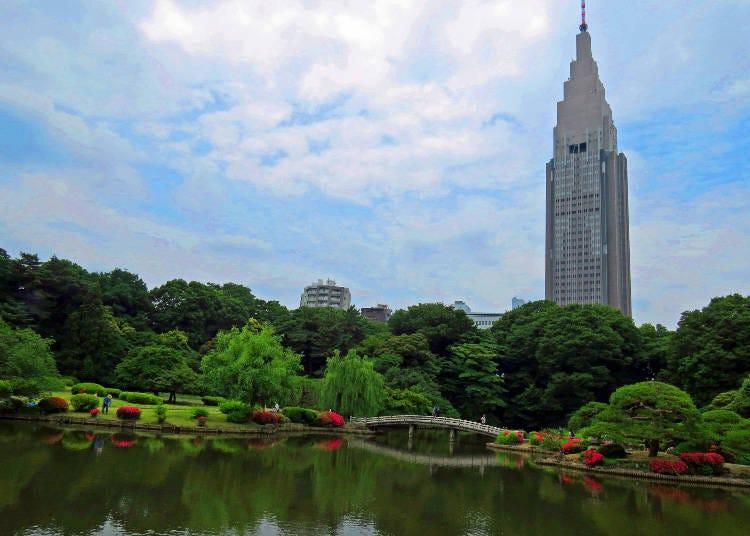 ☆一年四季都美麗 曾為日本皇室御用庭園「新宿御苑」