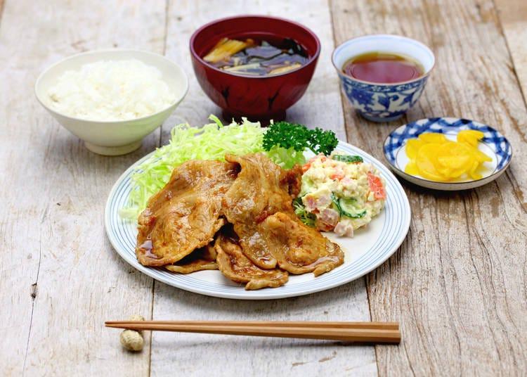 1. Butaniku no shogayaki (ginger pork)