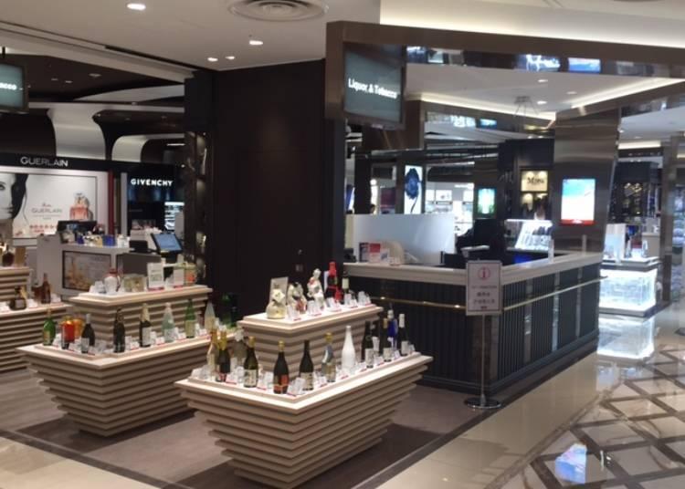 以日本美妝產品為中心,日本最大的化妝品專櫃。
