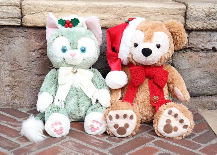 ■戴上聖誕帽超可愛!達菲&傑拉多尼貓「玩偶(M號)」每隻13000日圓