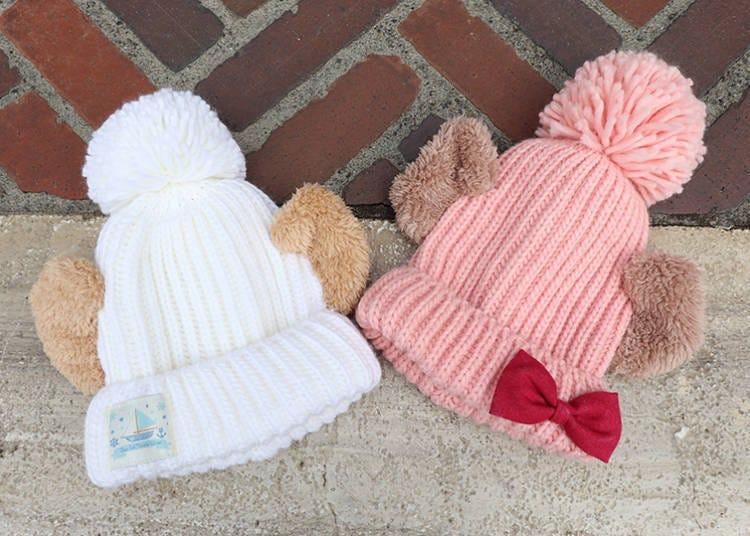 ■搭配造型玩偶組的「針織帽」一頂3000日圓