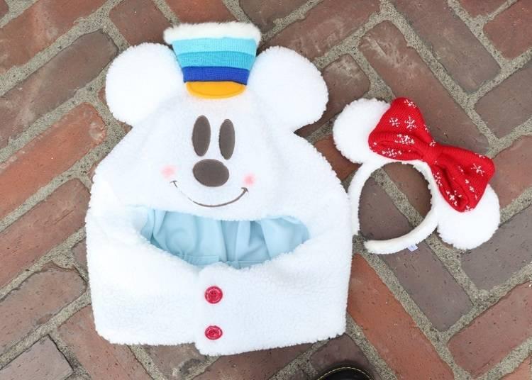 ■就是必買的人氣商品!「遮風帽」2700日圓/「髮箍」1600日圓