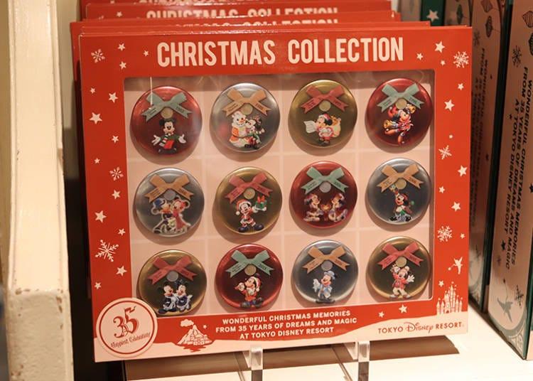 ■35周年×聖誕節收藏品的「紀念徽章套組」3200日圓