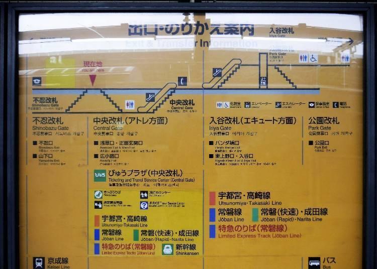 JR Ueno Station Structure