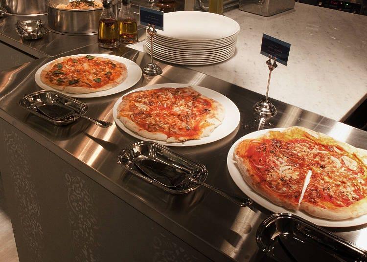 ■本格イタリアンを楽しめるピザコーナー&パスタコーナー
