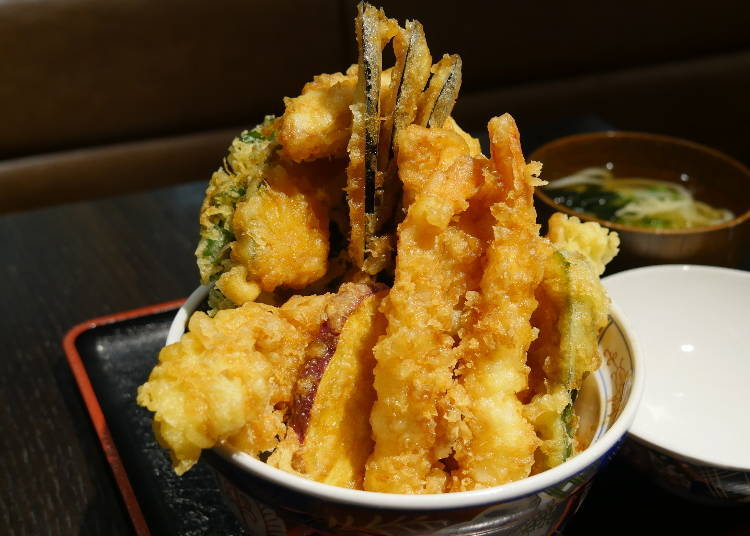 """Only Available Here! """"Bikkuri Tendon"""" Packed to the Brim!"""