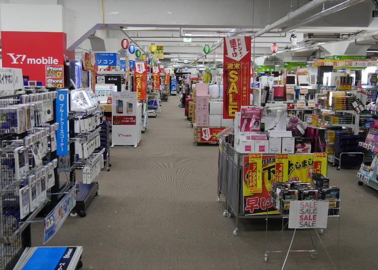 외국인에게 인기 상품 라인업을 다양히 취급하는 [노지마 전기]
