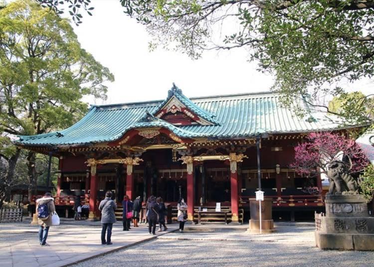 先到根津神社祈求旅途順利吧!