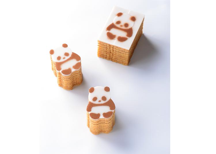 【第二名】まめや熊貓年輪蛋糕 含稅540日圓