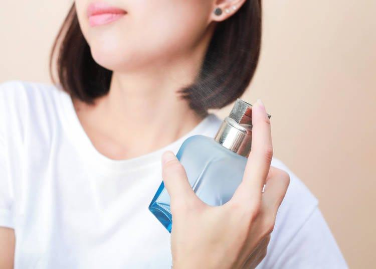 全体的な香り…香水やデオドラント剤はナチュラルな香りがポイント