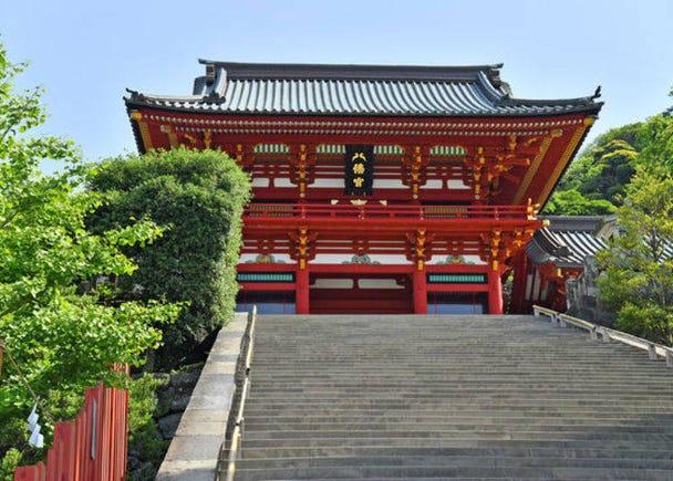Up the Stone Steps to the Shrine's Main Hall