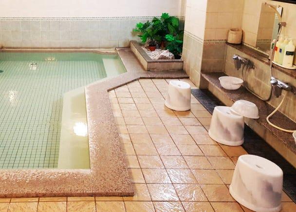 Before entering the onsen bath itself