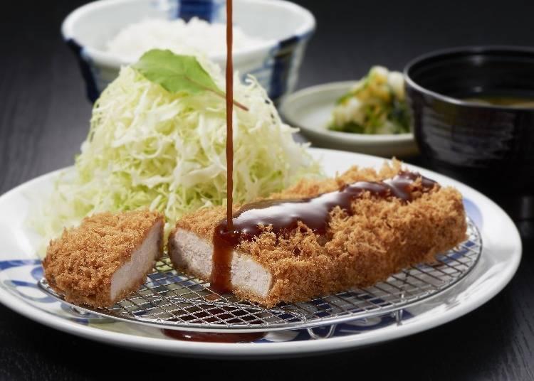 "Carefully selected pork deep-fried to perfection, stressing both flavor and texture ""Tonkatsu Maiizumi"""