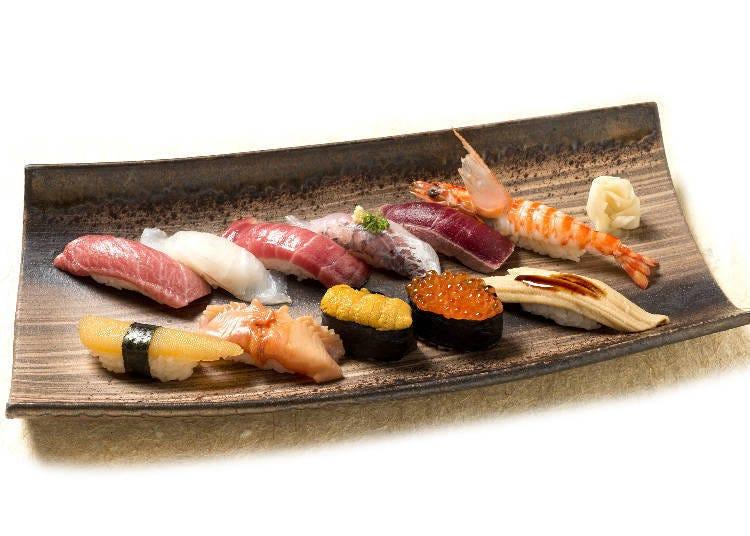 用從築地市場直送的新鮮魚貨所捏出來的江戶壽司的老店『築地玉壽司』