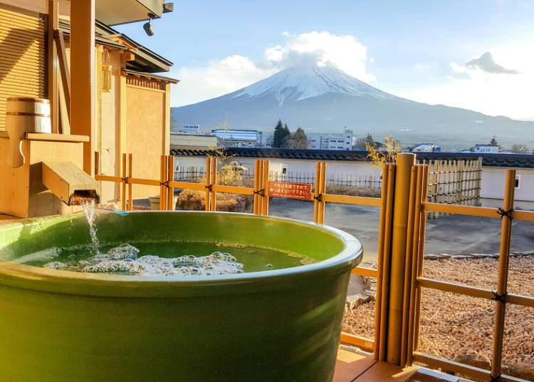 ■Come out of the onsen for a while when you find yourself sweating profusely