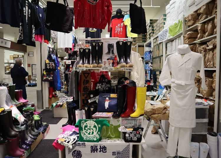 ⑤伊藤ウロコの「漢字Tシャツ&豊洲グッズ」