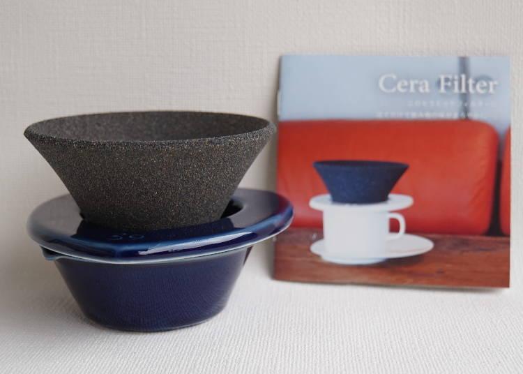 ①來自陶瓷器的故鄉有田!讓咖啡與茶立刻變得乾淨香醇的「39Arita飲品過濾器(39Aritaセラフィルター)」