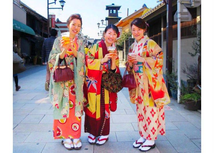 5. kimonoya沙羅:可以盡情享受從正統的和服到種類豐富的日式傳統服飾
