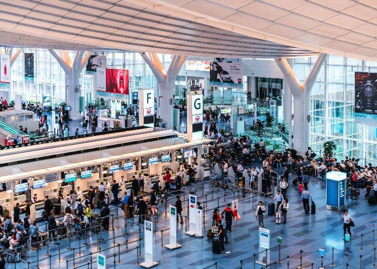 Narita Airport and Haneda Airport at a glance