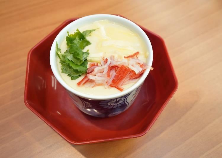 おすすめサイドメニュー③やさしい味わいで止まらない「茶碗蒸し リゾット」!