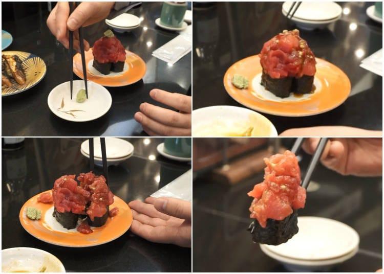 How Do You Eat a Huge Gunkan Like a Pro?