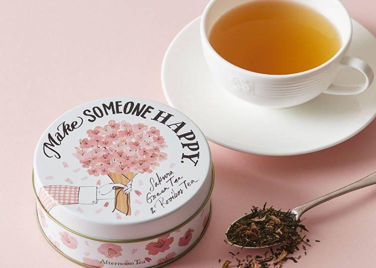 맛은 물론이고 벚꽃 그림의 깡통상자까지 귀여운 '사쿠라 그린 & 루이보스티'