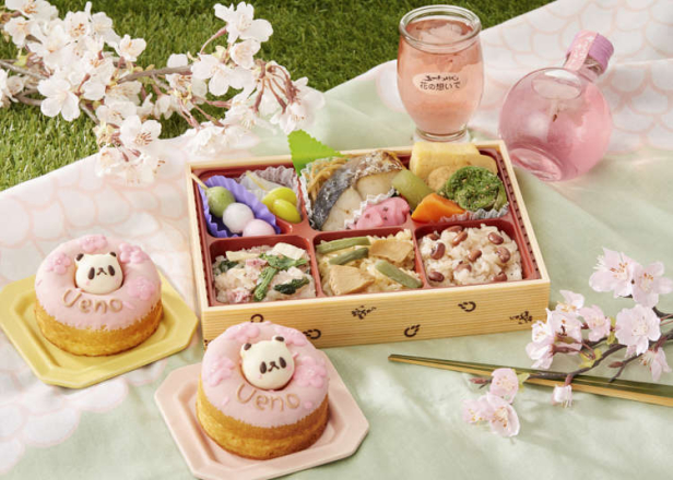 思い出に残る最高のお花見をエキュート上野で計画しよう! ―お弁当やキュートなスイーツなど、盛りだくさん!