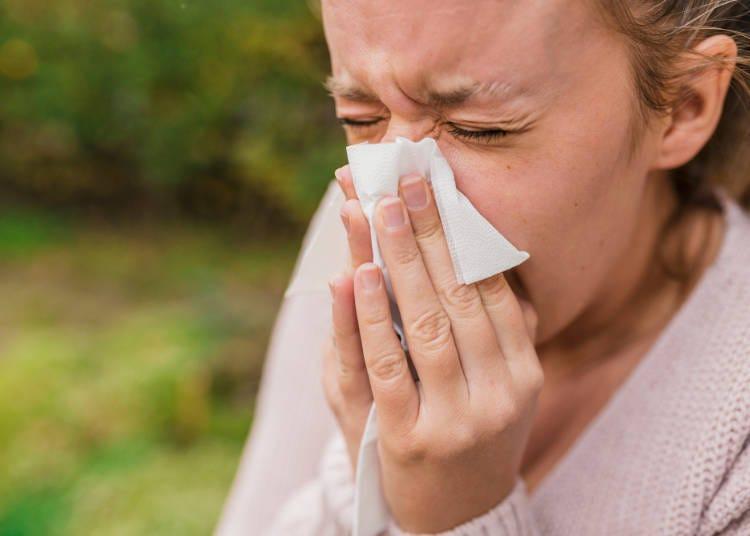 「就因為來日本,導致我得了花粉症!(握拳)」