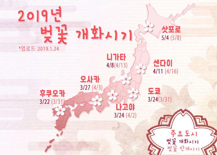 일본벚꽃개화시기 - 벌써 시작된 일본 전국의 벚꽃 개화시기와 팁!【2019년편】