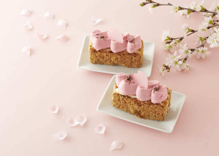 "6. Gateaux De Voyage: ""Sakura Mille-Feuille"" Will Be the Creamiest Sakura You've Ever Tasted"
