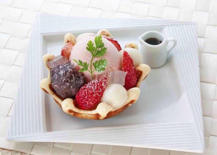 洋食餐廳 新宿中村屋:來西餐廳品嚐和風點心「和風櫻花紅豆鬆餅」