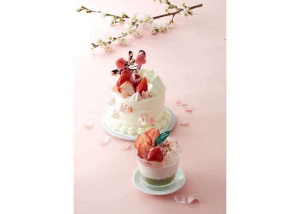 Patisserie Moncher:巧克力櫻花在上面綻放的草莓蛋糕