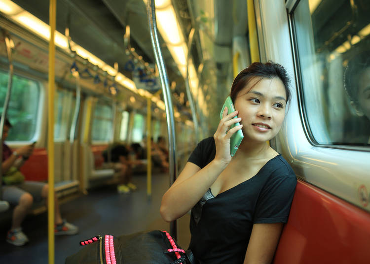 9 – No talking on phones on trains