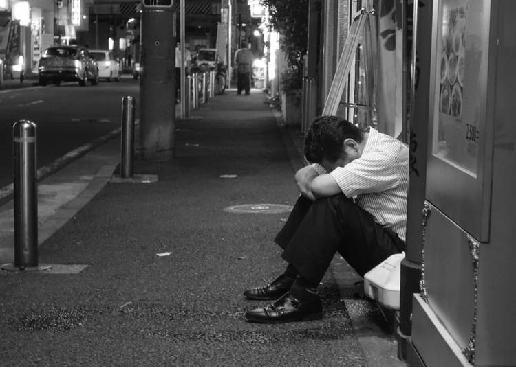 21 – Drunk 'salarymen' in the street are a common sight